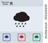 cloud with rain weather vector... | Shutterstock .eps vector #352165643