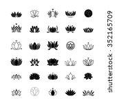 lotus flower logo | Shutterstock .eps vector #352165709