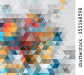 abstract colorful triangle... | Shutterstock .eps vector #352168598