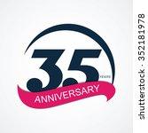 template 35 anniversary vector... | Shutterstock .eps vector #352181978