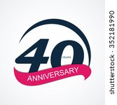 template 40 anniversary vector... | Shutterstock .eps vector #352181990
