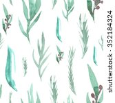 seamless pattern   consisting... | Shutterstock . vector #352184324