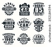 car repair badges. graphic... | Shutterstock .eps vector #352184594
