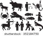 set of zodiac sign  ... | Shutterstock .eps vector #352184750