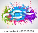 happy new year 2016 colorful... | Shutterstock .eps vector #352185359