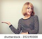 beautiful makeup young blond... | Shutterstock . vector #352190300
