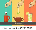 tea tradition vector concept... | Shutterstock .eps vector #352195700