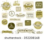 natural and organic food labels ...   Shutterstock .eps vector #352208168