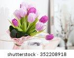 Tulips In Vase In Home  Tulips