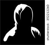illustration of silhouette of... | Shutterstock . vector #352212260