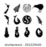 nz shapes | Shutterstock .eps vector #352229630