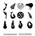 nz shapes | Shutterstock .eps vector #352229630