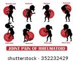 joint pain of rheumatoid and... | Shutterstock .eps vector #352232429