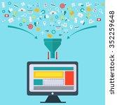 creative process  big data... | Shutterstock .eps vector #352259648
