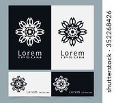 black and white symbols ... | Shutterstock .eps vector #352268426