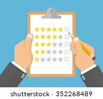 feedback and service rating... | Shutterstock .eps vector #352268489