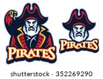 pirate mascot with the parrot | Shutterstock .eps vector #352269290