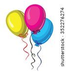 vector color three baloon on... | Shutterstock .eps vector #352276274