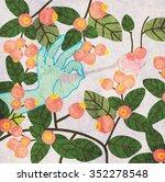vector illustration of hand... | Shutterstock .eps vector #352278548