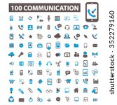communication icons | Shutterstock .eps vector #352279160