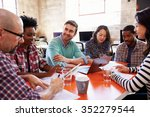 group of designers having... | Shutterstock . vector #352279544