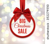 big christmas sale  round... | Shutterstock . vector #352279550