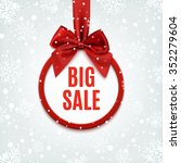 big sale  round banner with red ... | Shutterstock . vector #352279604