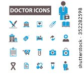 doctor  clinic  icons  signs... | Shutterstock .eps vector #352282598