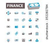finance  bank  credit  savings  ... | Shutterstock .eps vector #352282784