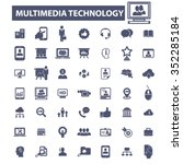 multimedia technology ... | Shutterstock .eps vector #352285184