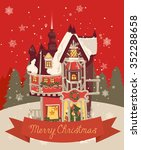 christmas greeting card with... | Shutterstock .eps vector #352288658