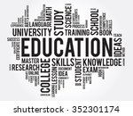 education. word cloud business... | Shutterstock . vector #352301174