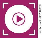 play button web icon  vector...