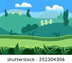seamless cartoon nature...