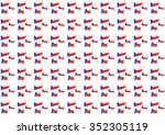 the pattern with the flag of... | Shutterstock . vector #352305119