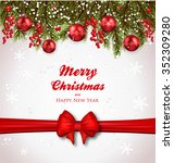 christmas background realistic... | Shutterstock .eps vector #352309280