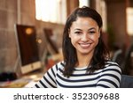 portrait of female designer... | Shutterstock . vector #352309688