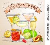 the unforgettables cocktail...   Shutterstock . vector #352323800