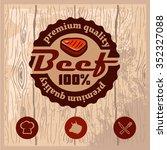 vintage retro logo templat of... | Shutterstock .eps vector #352327088