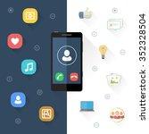 design elements for mobile... | Shutterstock .eps vector #352328504