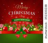 retro xmas postcard  | Shutterstock . vector #352333238