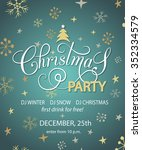 christmas party invitation for...   Shutterstock .eps vector #352334579