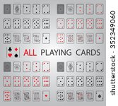 simple set  all playing cards | Shutterstock .eps vector #352349060