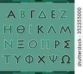 alphabet letters in greek...   Shutterstock .eps vector #352355000