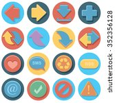 arrows icon set in circle   Shutterstock .eps vector #352356128