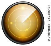 radar button icon | Shutterstock .eps vector #352356434