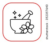 icon of mortar and pestle with... | Shutterstock .eps vector #352357640