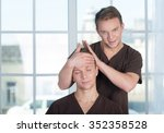 professional massage medical... | Shutterstock . vector #352358528