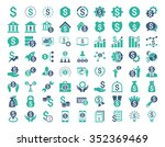 financial business glyph icon... | Shutterstock . vector #352369469