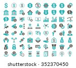 financial business glyph icon... | Shutterstock . vector #352370450